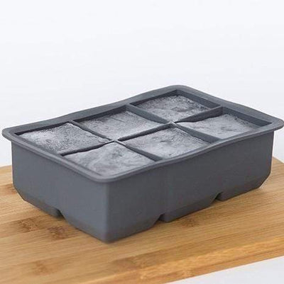 Silicone 6 Cup King Ice Cube Tray Charcoal - Laguna Lifestyle