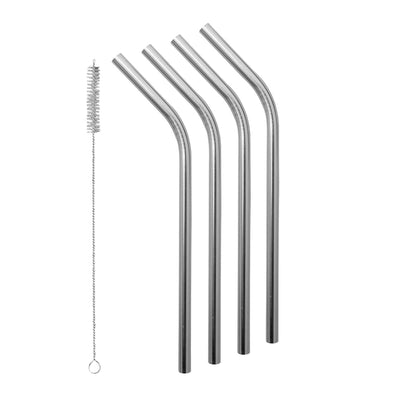 Avanti Stainless Steel Straw w/ Cleaning Brush Set of 4 - Laguna Lifestyle