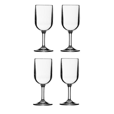 Classic Wine Glasses 4 piece Set 245ml - Shatterproof - Laguna Lifestyle