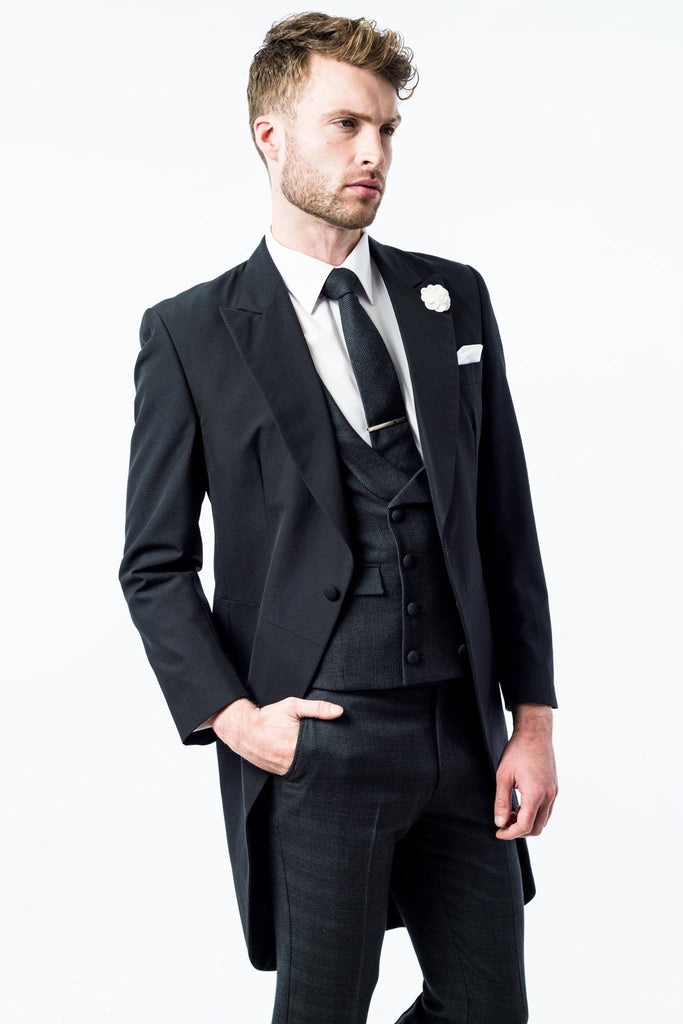 Black Contemporary Slim Fit Tails: Classic Tail In A Modern Tailored Fit