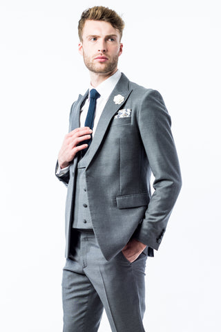 Confederate Grey Slim Fit Wedding Suit