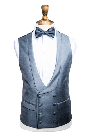 Confederate Grey Double Breasted Waistcoat