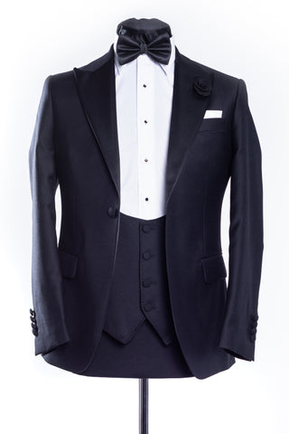 Black Slim Fit Latharna Tux