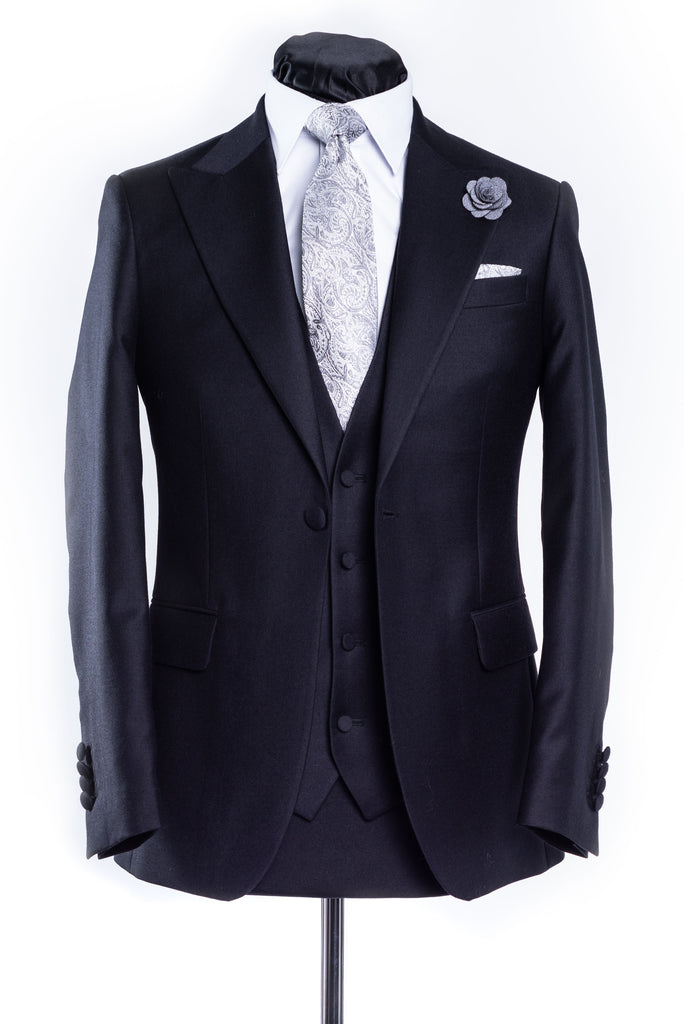 Latharna Black Slim Fit Wedding Suit
