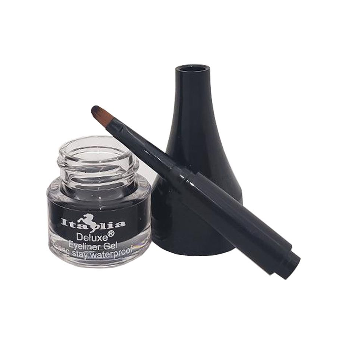 Black Gel Eyeliner with Brush