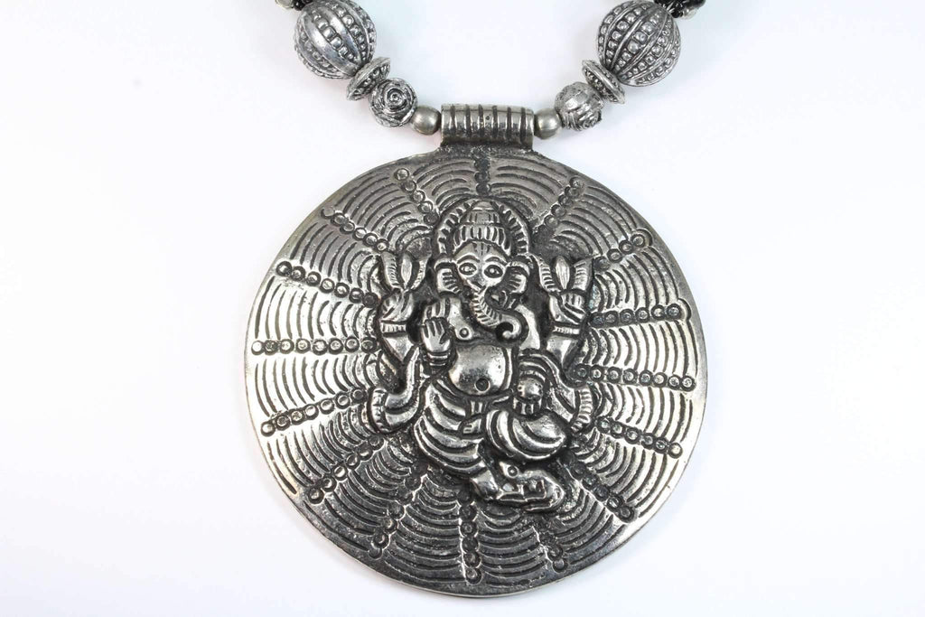 Ganesha in Cosmos Statement Necklace - Tatventure