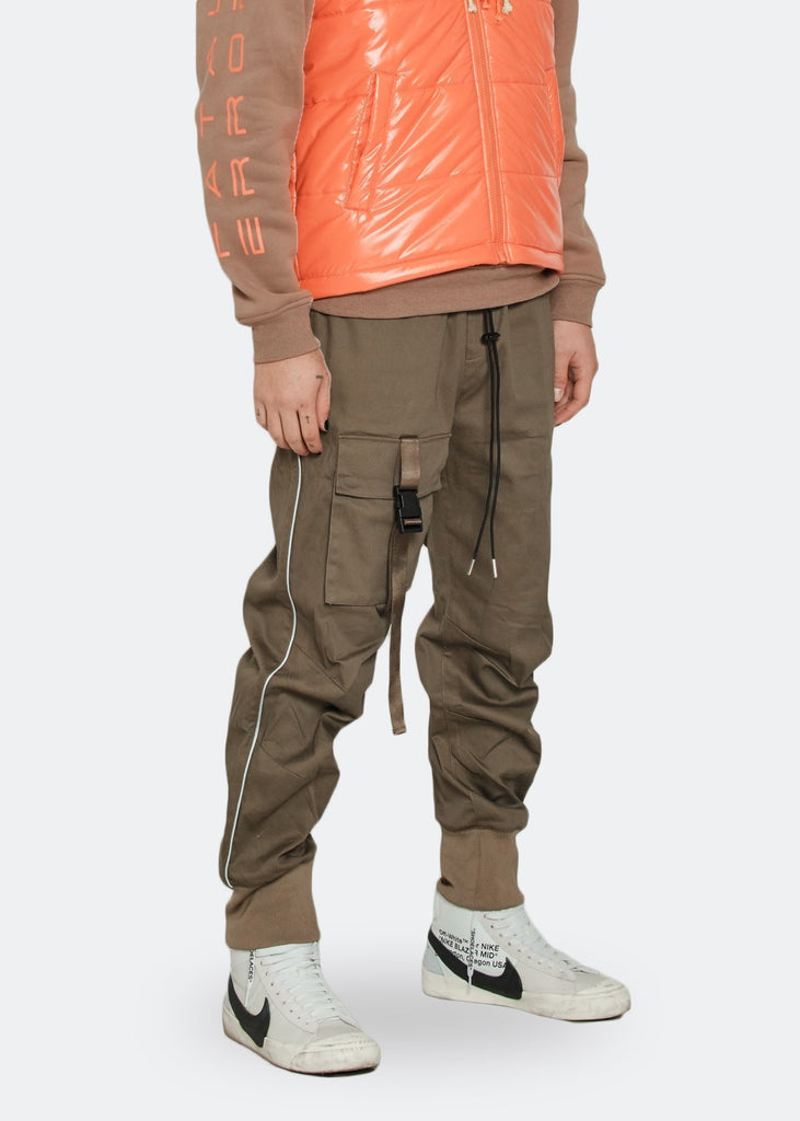 Konus Men's Tactical Strap Cargo Joggers with Reflective Piping in - Tatventure