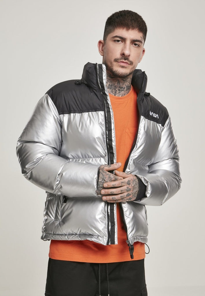 NASA Two-Toned Cool Grey Puffer Jacket - Tatventure