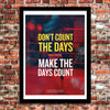 Muhammad Ali inspirational & motivational quote poster by Sawyer Hollenshead for The Dept. of Motivation - Size: 18x24 inches