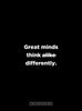 "Motivational Poster: Great minds think differently - 18x24"" poster by Dept. of Motivation"