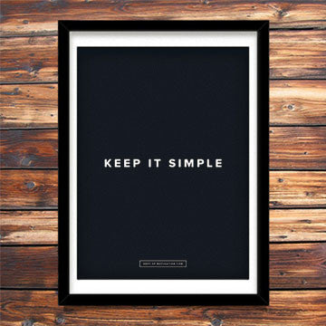 """Keep It Simple"" poster"