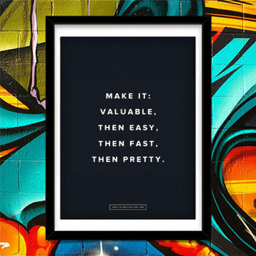 """Make it Valuable"" poster"