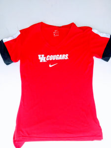 University of Houston Women's Fan SS V-Tee
