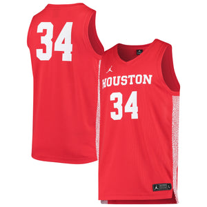 #34 Houston Cougars Jordan Brand Team Replica Basketball Jersey