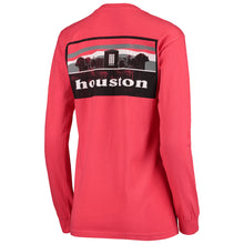 Load image into Gallery viewer, University of Houston Cougars Women's Landmark Long Sleeve Tee-RED