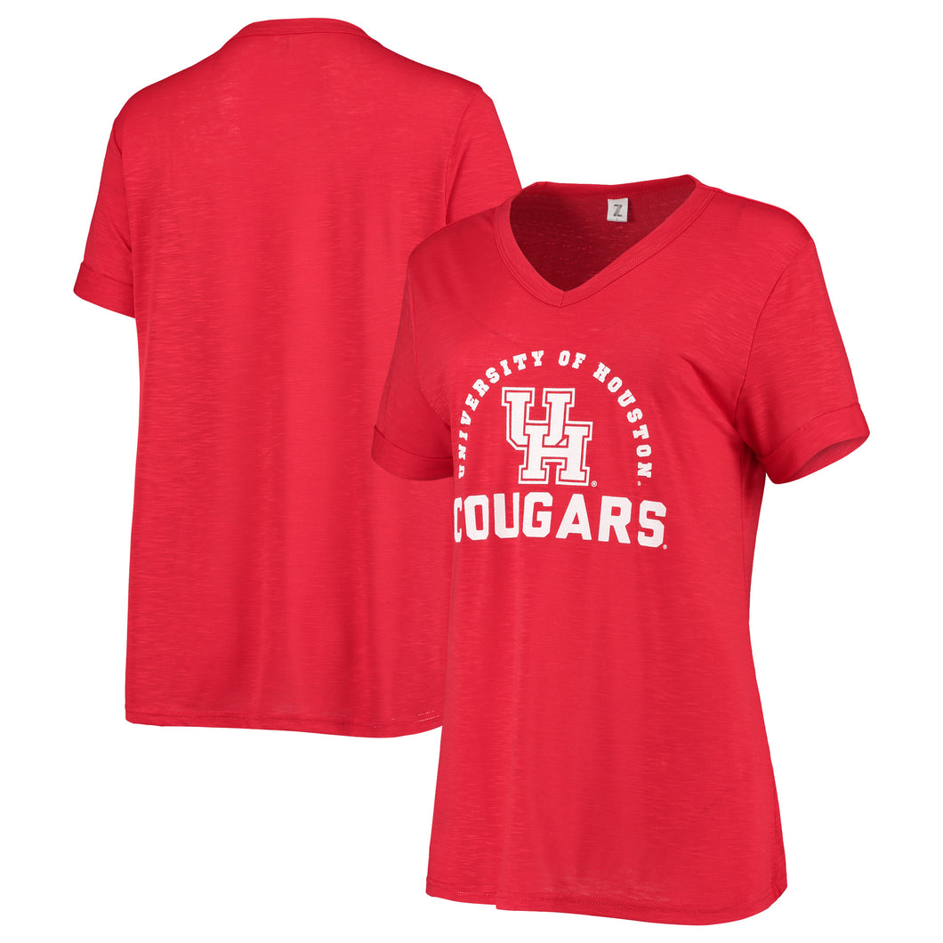 University of Houston Women's Dodge Knotted SS Tee
