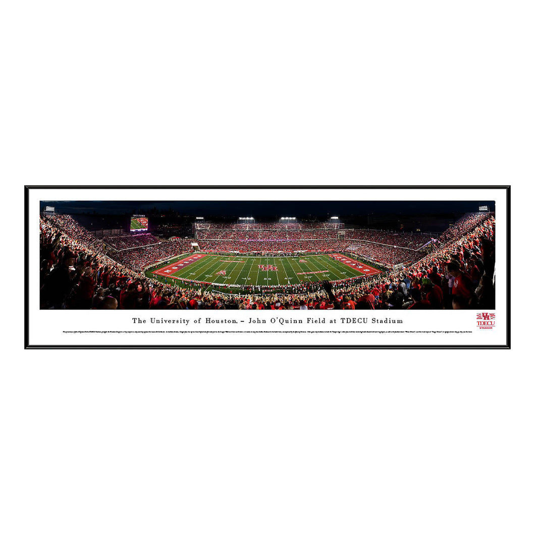 University of Houston Cougars 50 yrd Standard Frame Panoramic