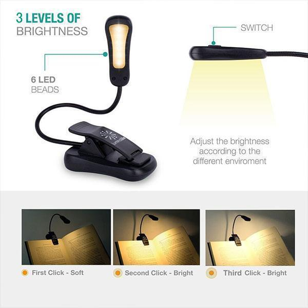 Rechargeable Easy Clip-on LED Lamp