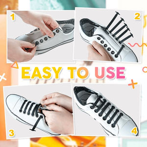 LazyLacey No-Tie Shoelaces (Set of 16)