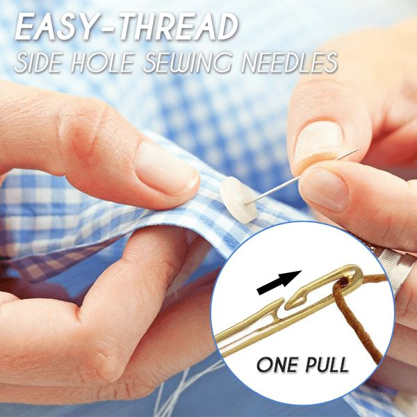 Easy-Thread Side Hole Sewing Needles (Set of 12)