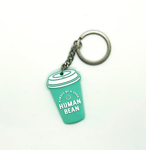 The Human Bean Cup Key Chain