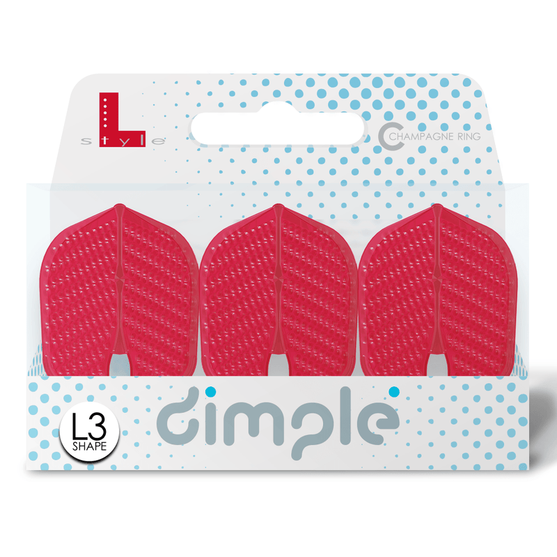 L-Style Dimple L3 Shape Champagne Flights - DreamDarts Online Dartshop