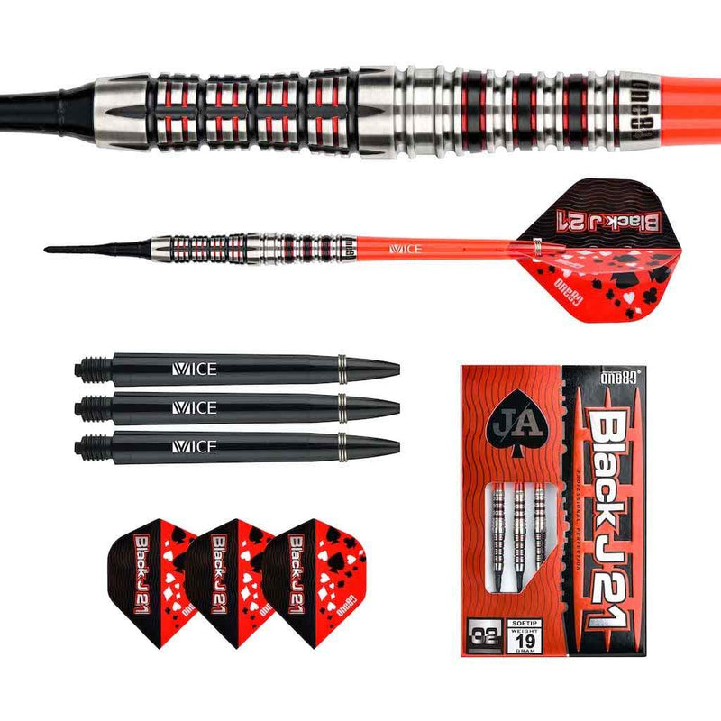 Black J21 - 02 Softdarts - DreamDarts Online Dartshop