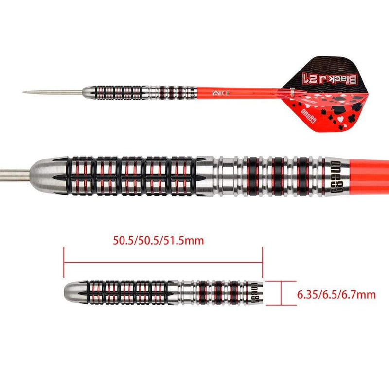 Black J 21 - 01 Steeldarts - DreamDarts Online Dartshop