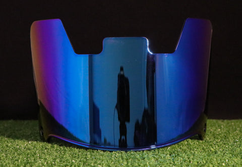 Blue Chrome Storm Series Visor