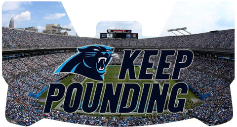 Keep Pounding Stadium Panthers Premium Visor