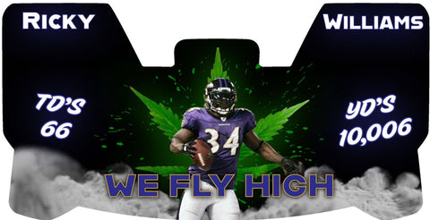 Rickky Wiliams WE FLY HIGH Vikings Premium Visor