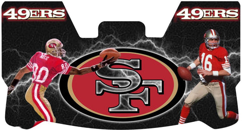 Joe Montana and Jerry Rice Premium Visor