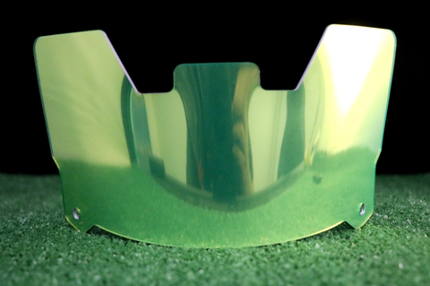 Lime Green Chrome Visor