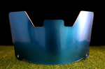 Blue Chrome Visor