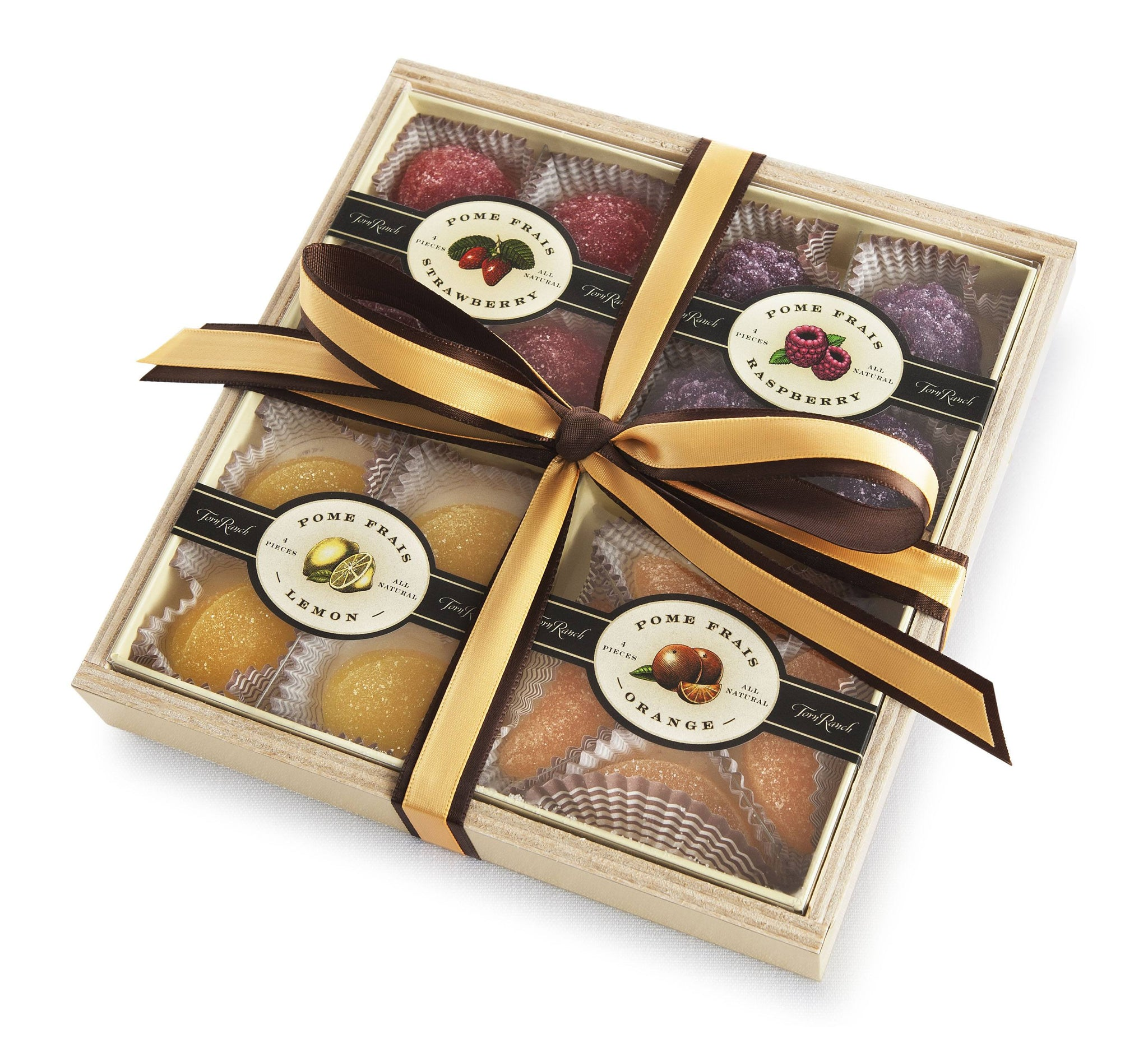 Pome Frais Gift Tray in Unique Gifts & Gift Baskets- Package wrapped with a bow