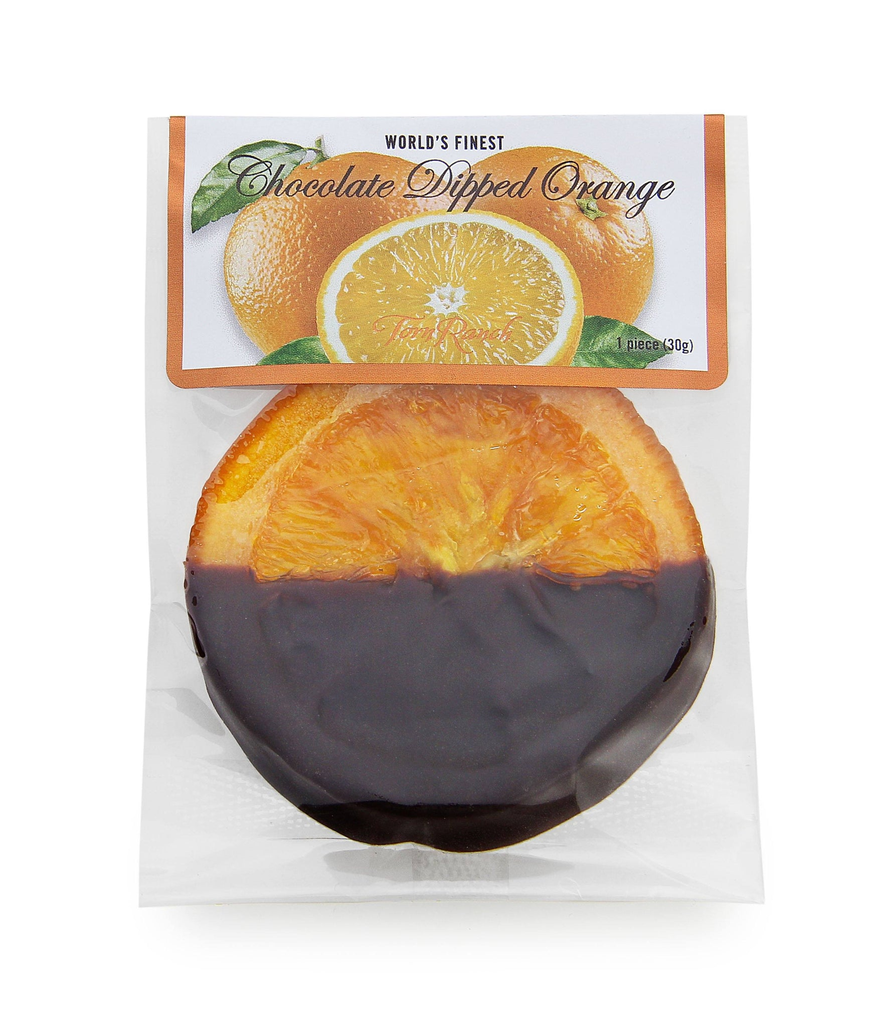 Signature Reserve Chocolate Dipped Orange Slice - 15 slice pack in Gourmet Chocolates and Toffee - Individually wrapped chocolate dipped orange.