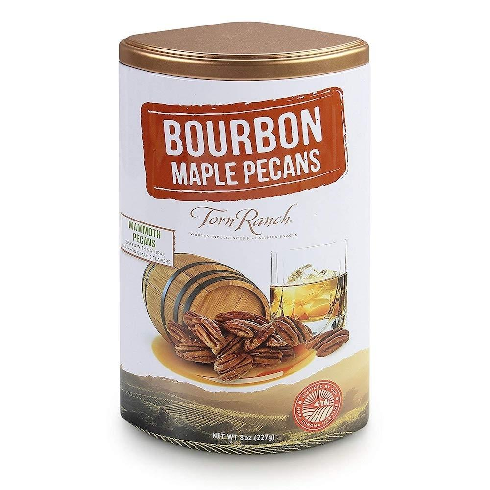 Copper Cocktail Nut Tin Collection Gourmet Nuts - Bourbon Maple Pecans,