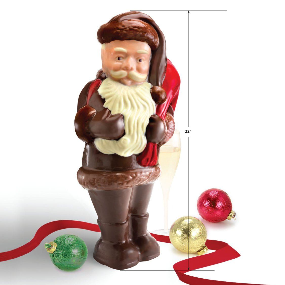 Hand Painted Chocolate Santa Claus Torn Ranch