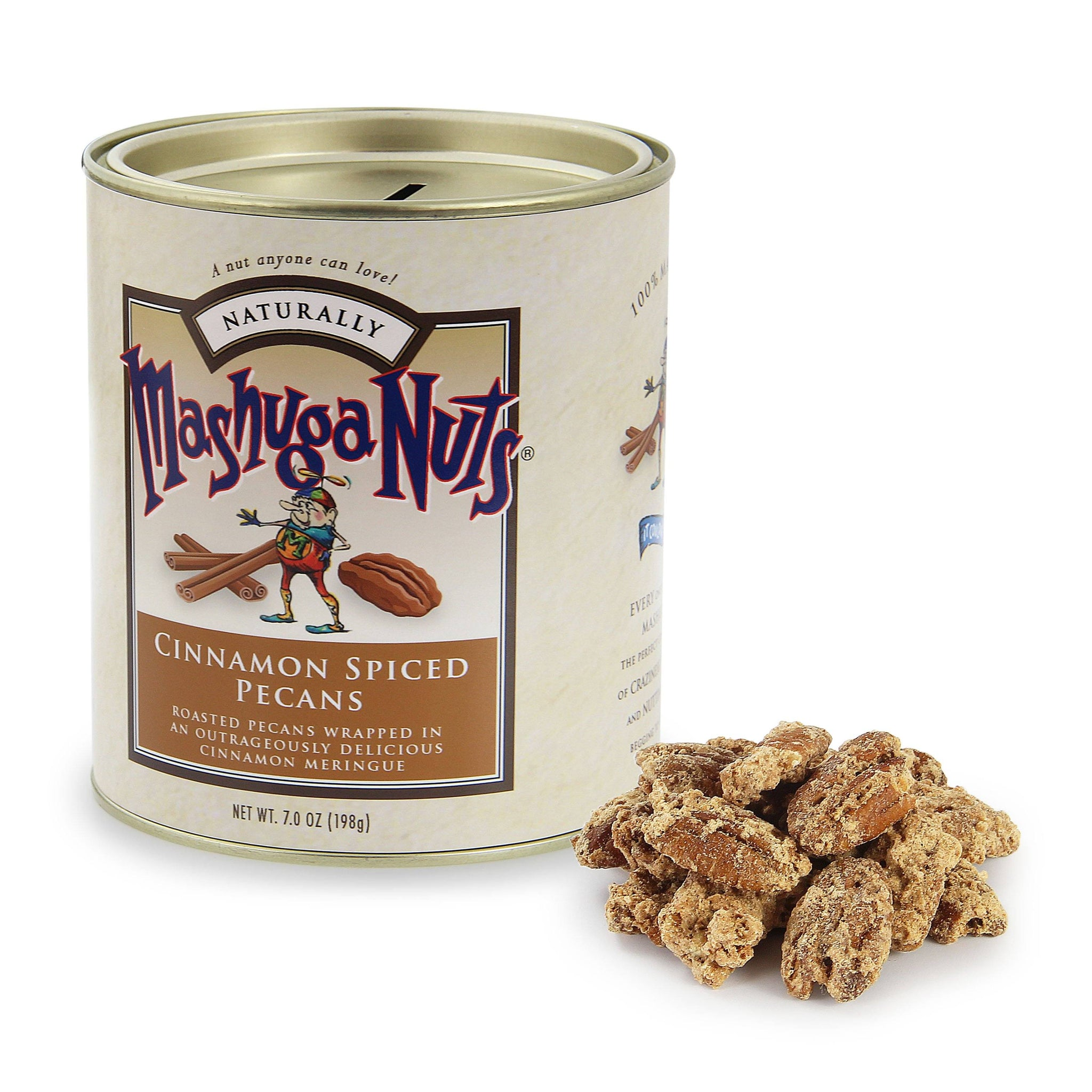 Torn Ranch Mashuga Nuts Duo Carrier (Tin) in Gourmet Nuts - pile of nuts next to container