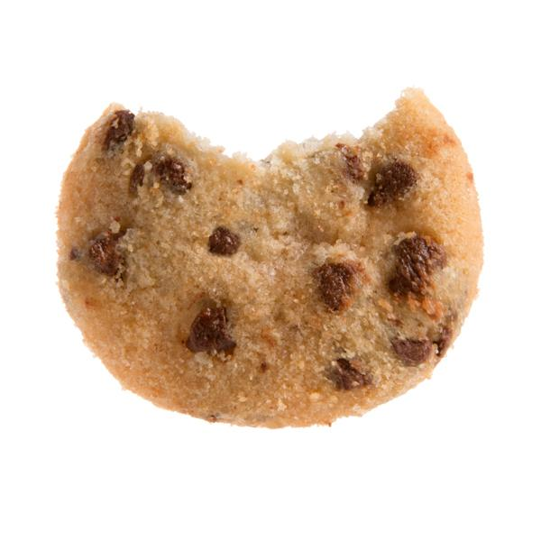 Chocolate Chip Cookies Gift Two Pack Fresh Baked Cookies - close up of cookie with bite