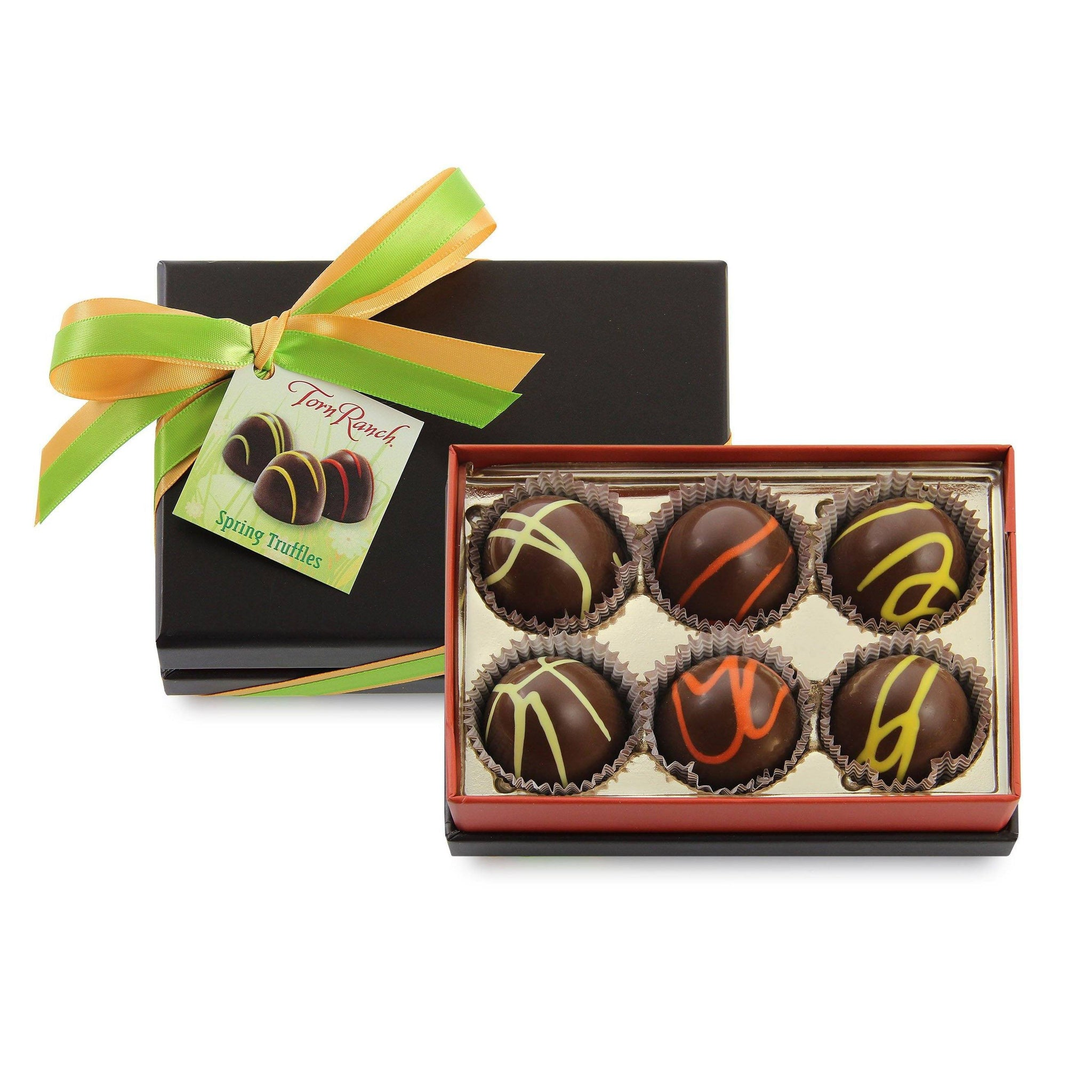 6 Count Hand Striped Chocolate Truffles Custom Branded vendor-unknown