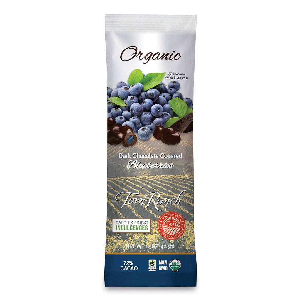 Organic Dark Chocolate Blueberries - 1.5 oz. (12 pack) in Healthier Snacks- Individual package