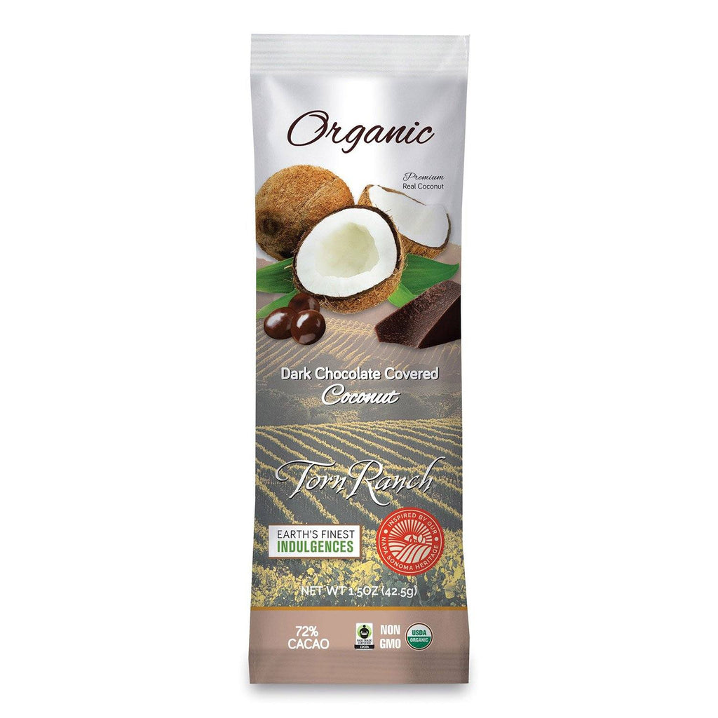 Organic Dark Chocolate Coconut - 1.5 oz. (12 pack) in Healthier Snacks- Individual package