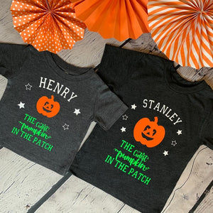 Kids personalised cutest pumpkin t-shirt (baby)