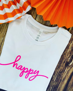 Adults Happy T-shirt