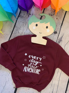 Kids  adventure sweatshirt