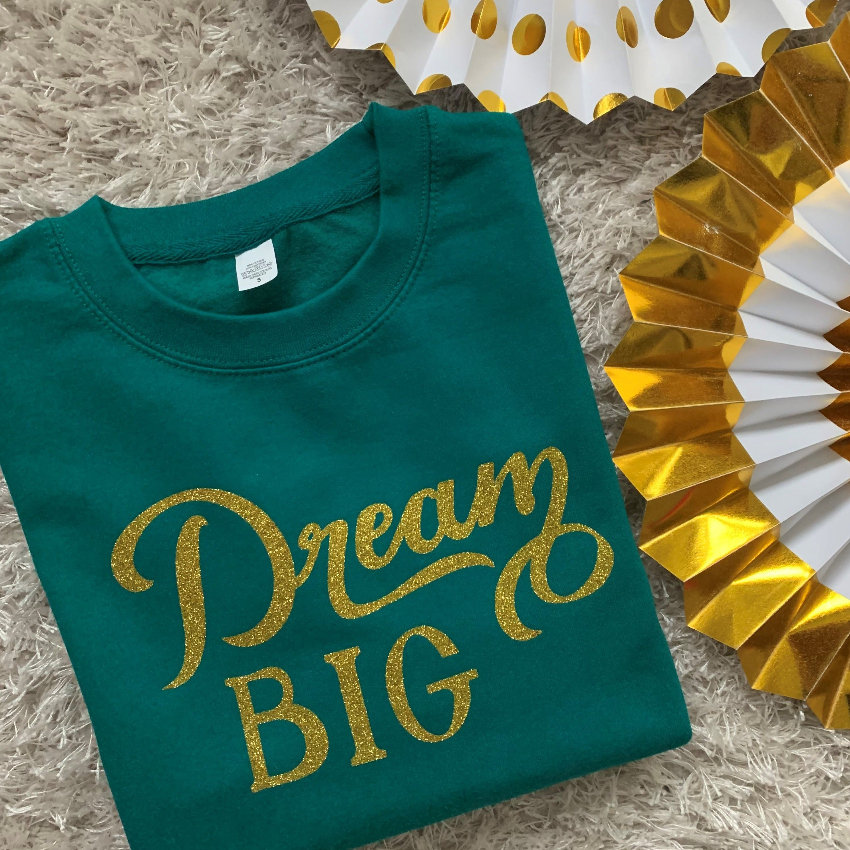 Adults Dream BIG glitter sweatshirt
