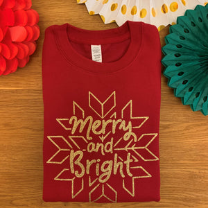 Adults Merry & Bright Sweatshirt