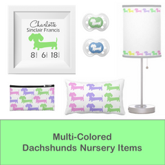 Nursery or Child's Room | Multi-Colored Dachshunds