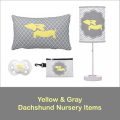 Nursery or Child's Room | Yellow & Gray Dachshunds